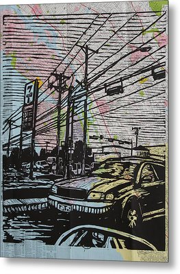 Burnet Road Metal Print