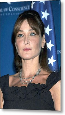 Carla Bruni Sarkozy In Attendance Metal Print by Everett