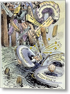 Cartoon: New Deal, 1933 Metal Print by Granger