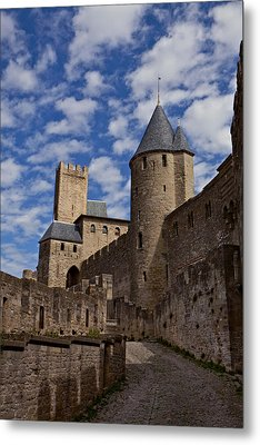 Chateau Comtal Of Carcassonne Fortress Metal Print by Evgeny Prokofyev