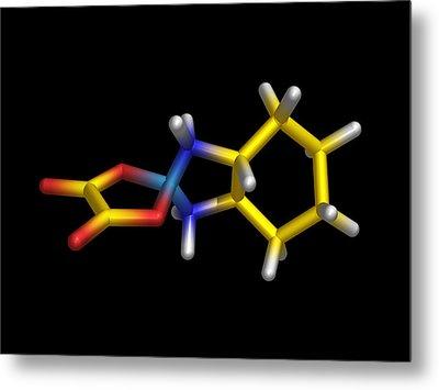 Chemotherapy Drug Molecule Metal Print by Dr Tim Evans