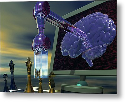 Chess Computer Metal Print by Laguna Design