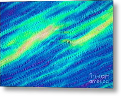 Cholesteric Liquid Crystals Metal Print by Michael Abbey and Photo Researchers
