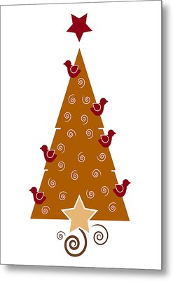 Christmas Tree Metal Print by Frank Tschakert