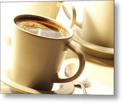 Coffee In Cup Metal Print by Blink Images