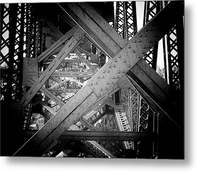 Crooked River Bridge  Metal Print by Franklin Jeffers
