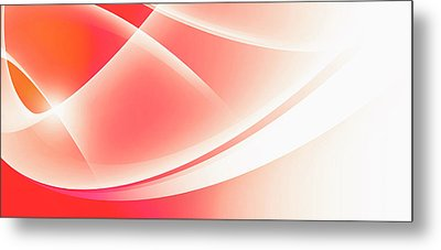 Curved Intersecting Lines Metal Print by Ralf Hiemisch
