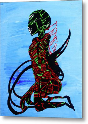Dinka Bride - South Sudan Metal Print by Gloria Ssali