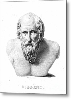 Diogenes (d. C320 B.c.) Metal Print by Granger