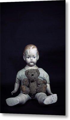 Doll And Bear Metal Print