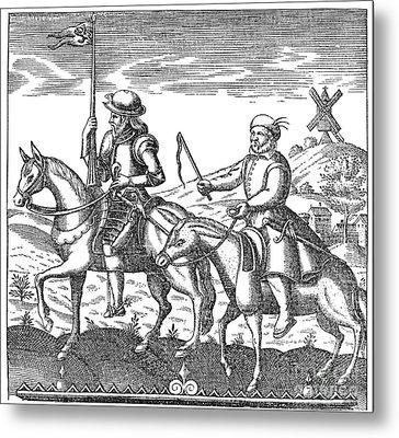 Don Quixote & Sancho Panza Metal Print