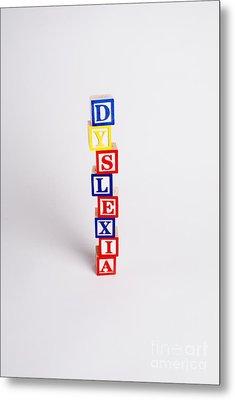 Dyslexia Metal Print by Photo Researchers, Inc.