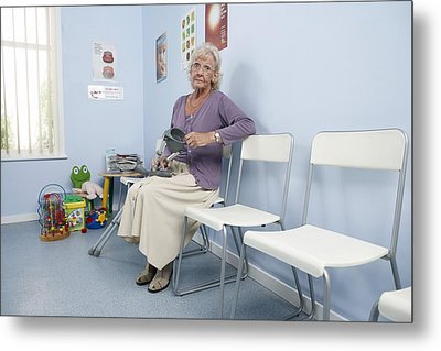 Elderly Patient Metal Print by Adam Gault