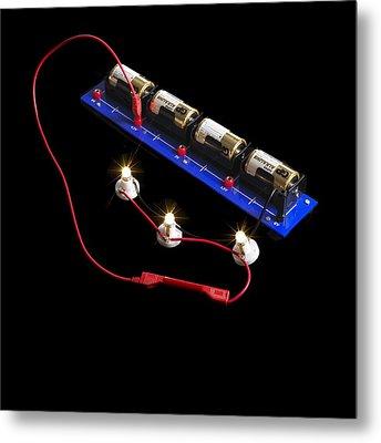 Electrical Circuit Metal Print by
