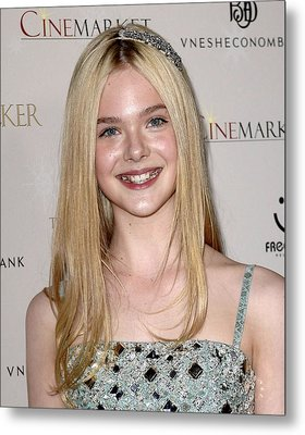 Elle Fanning At Arrivals For The Metal Print by Everett