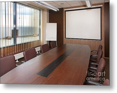 Empty Conference Room Metal Print