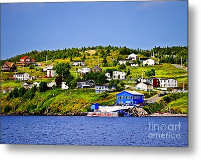 Fishing Village In Newfoundland Metal Print