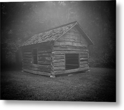 Foggy Mountain Morning Metal Print by Victoria Ashley