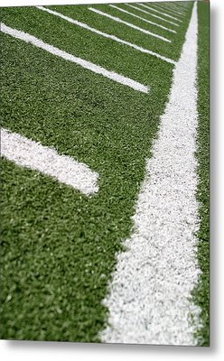 Metal Print featuring the photograph Football Lines by Henrik Lehnerer