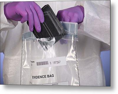 Forensic Evidence Metal Print by Paul Rapson