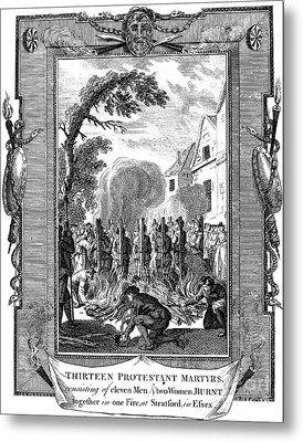 Foxe: Book Of Martyrs Metal Print by Granger