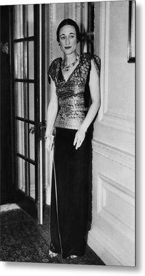 Future Duchess Of Windsor Wallis Metal Print by Everett