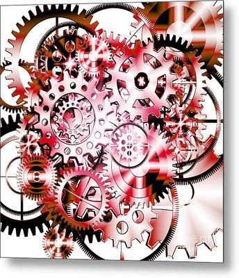 Gears Wheels Design  Metal Print by Setsiri Silapasuwanchai