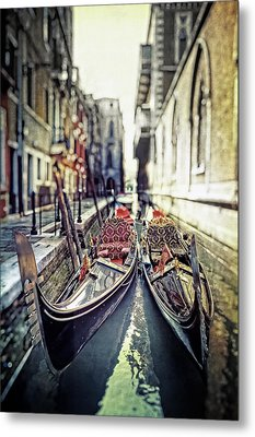 Gondolas Metal Print by Joana Kruse