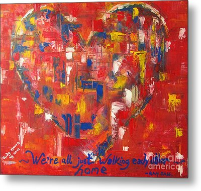 Metal Print featuring the painting Heart by Judy Morris