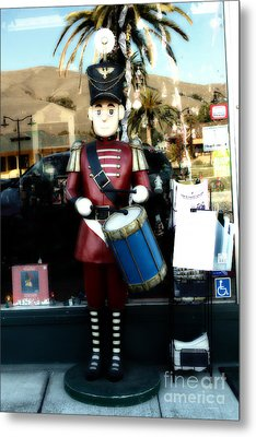 Historic Niles District In California Near Fremont . Little Drumer Boy At The Vine . 7d10691 Metal Print by Wingsdomain Art and Photography