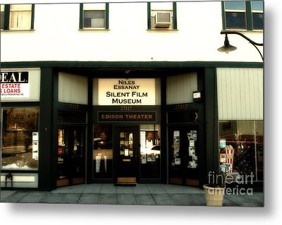 Historic Niles District In California Near Fremont . Niles Essanay Silent Film Museum.edison Theater Metal Print by Wingsdomain Art and Photography