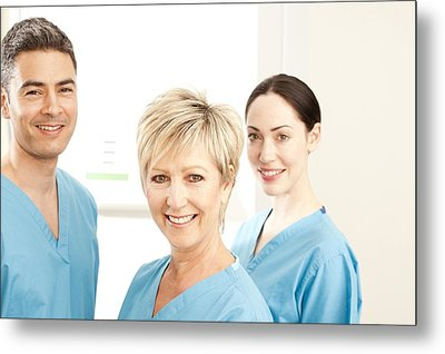 Hospital Staff Metal Print by