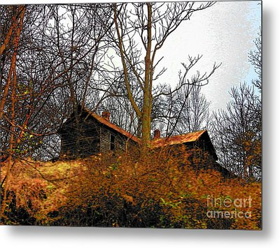 House On The Hill Metal Print by Joyce Kimble Smith