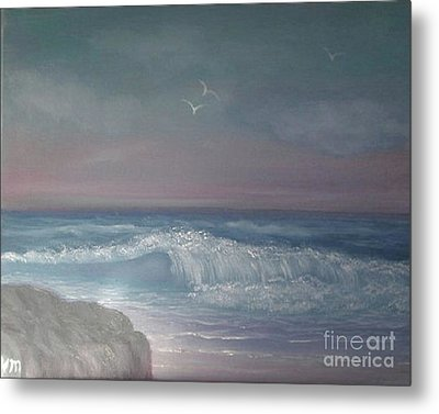 Metal Print featuring the painting In The Mood by Holly Martinson