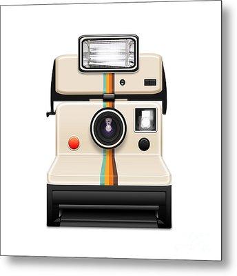 Instant Camera With A Blank Photo Metal Print by Setsiri Silapasuwanchai