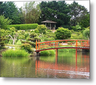 Japanese Gardens Metal Print by Therese Alcorn