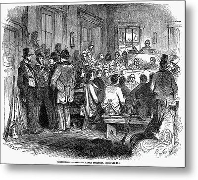 Kansas-nebraska Act, 1855 Metal Print by Granger