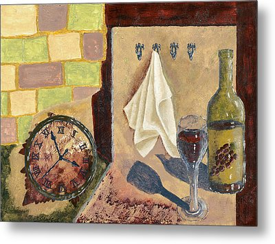 Kitchen Collage Metal Print by Susan Schmitz