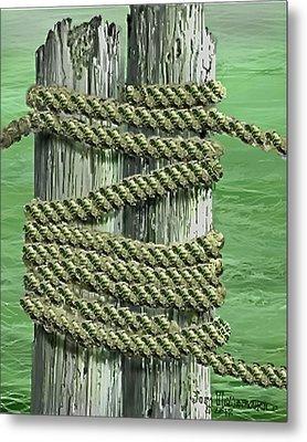 Lake Sumter Piling Metal Print by Jim Hubbard