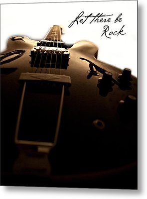 Let There Be Rock Metal Print by Christopher Gaston