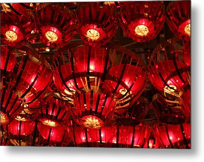 Lights Metal Print by Mike Stouffer