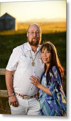 Lisa And James Metal Print