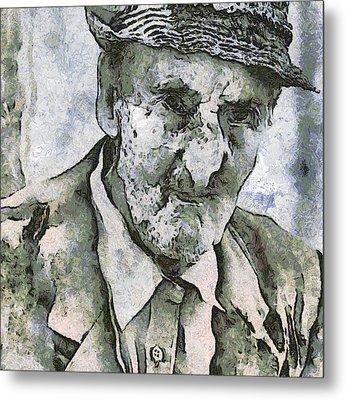 Man Portrait Metal Print by Odon Czintos