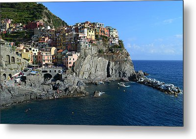 Manarola Metal Print by Barbara Walsh