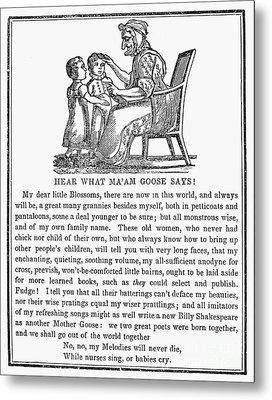 Mother Goose, 1833 Metal Print by Granger