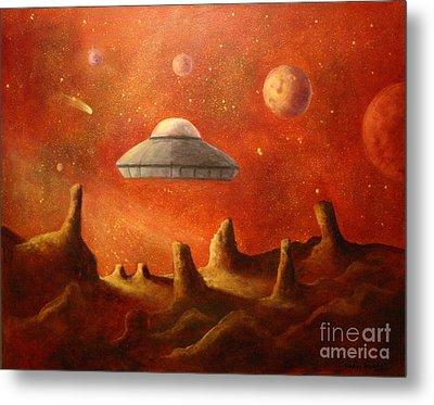 Mysterious Planet Metal Print by Randy Burns
