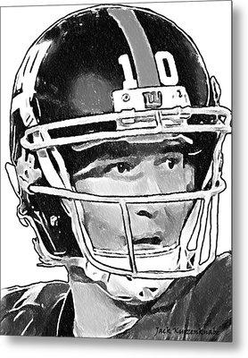 New York Giants  Eli Manning Metal Print by Jack K