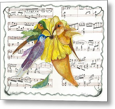 2 Of 2 - Natures Symphony-in Three-part Harmony Metal Print by Joy Braverman