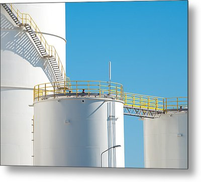 Metal Print featuring the photograph Oil Tanks by Hans Engbers
