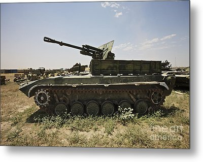 Old Russian Bmp-1 Infantry Fighting Metal Print by Terry Moore